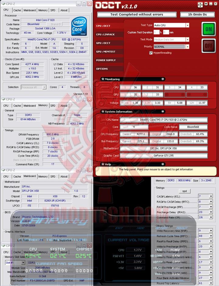 occt 225 DFI LANParty DK X58 T3eH6