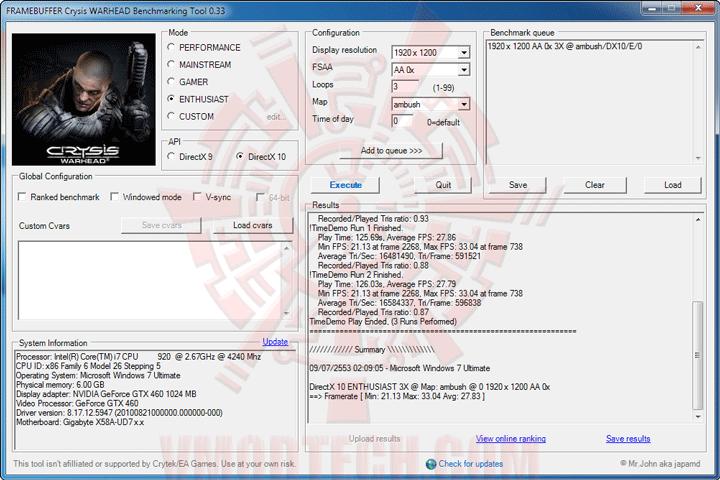 wh df ECS BLACK GeForce GTX 460 1024MB GDDR5 Review