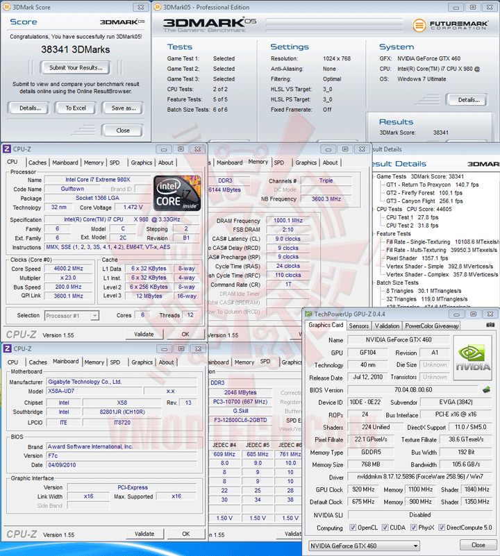 05 ov EVGA GeForce GTX 460 768MB GDDR5 Review