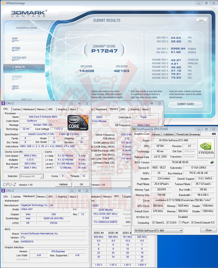 07np oc EVGA GeForce GTX 460 768MB GDDR5 Review