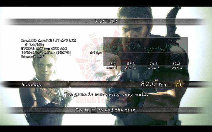re5 oc EVGA GeForce GTX 460 SuperClocked 1024MB GDDR5 Review
