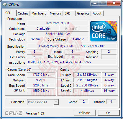 c1 EVGA P55 SLI E655 + Core i3 530 : Review