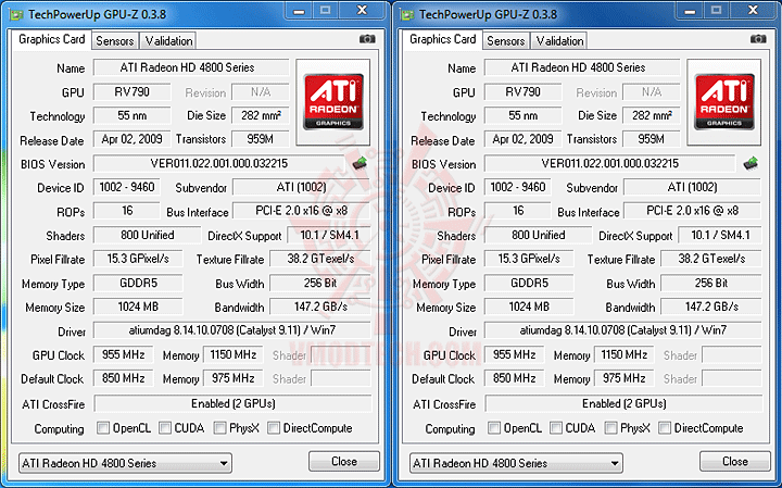 gpu z EVGA P55 SLI E655 + Core i3 530 : Review