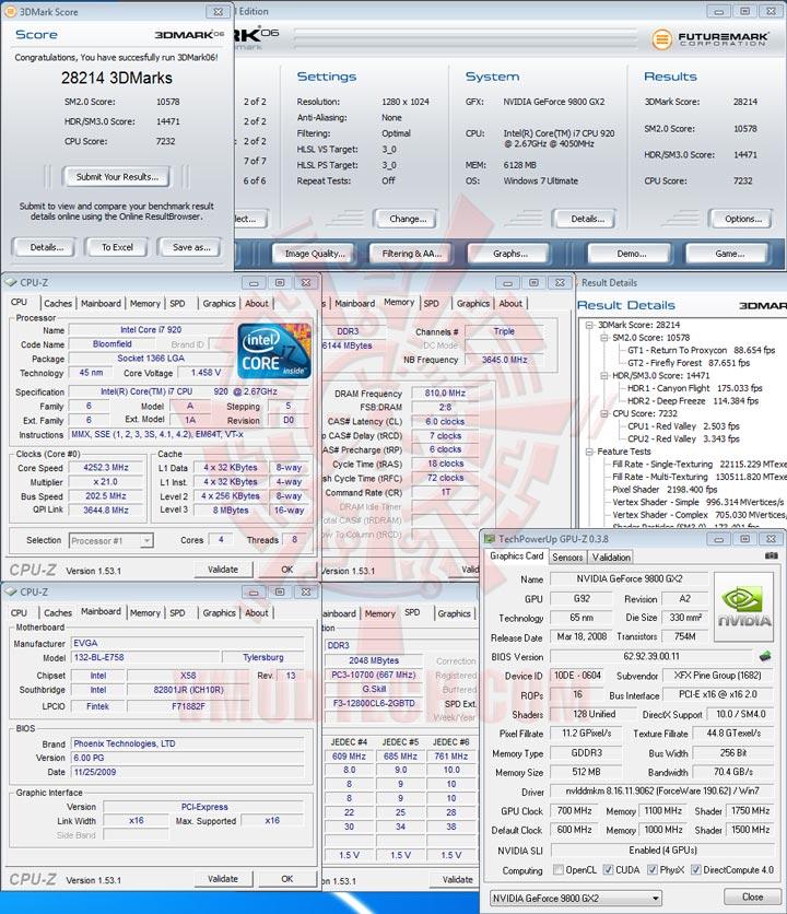 06 sli EVGA X58 3X SLI : Review