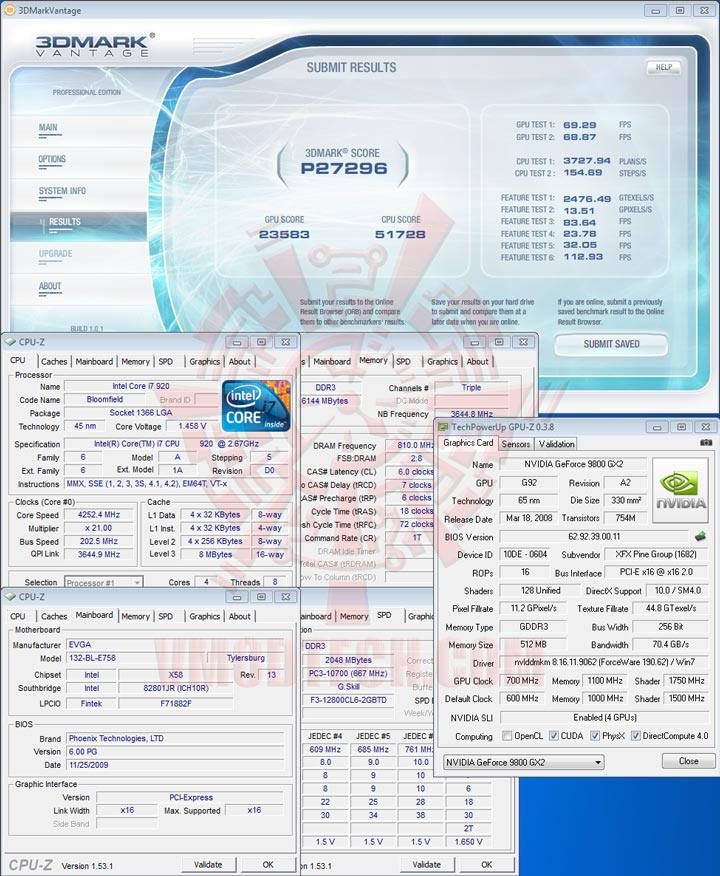 07 sli EVGA X58 3X SLI : Review