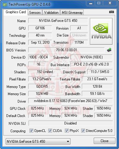 gz df GALAXY GeForce GTS 450 GC VERSION 1GB GDDR5 Review