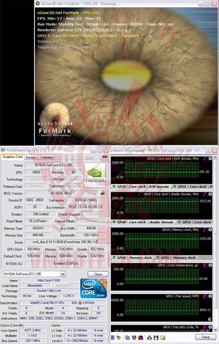furoc GALAXY GeForce GTX 295 single PCB