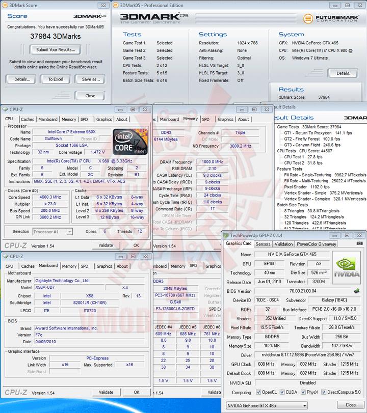 05 df GALAXY GeForce GTX 465 1024MB GDDR5 Review