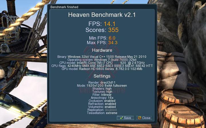 08 oc GIGABYTE AMD Radeon HD 6850 1GB GDDR5 Review