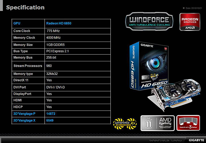 slide2 GIGABYTE AMD Radeon HD 6850 1GB GDDR5 Review