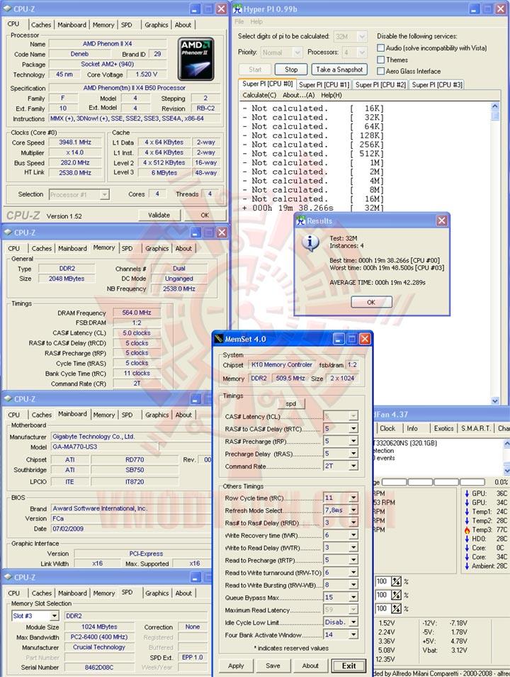 hyp32 3948 ระเบิดหัว PhenomII X2 550BE ไปกับ GIGABYTE GA MA770 US3 REV. 2.0