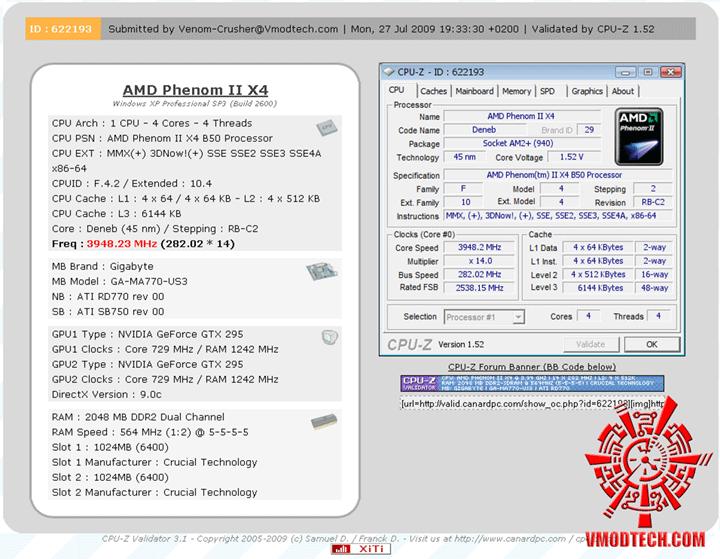 vali ระเบิดหัว PhenomII X2 550BE ไปกับ GIGABYTE GA MA770 US3 REV. 2.0