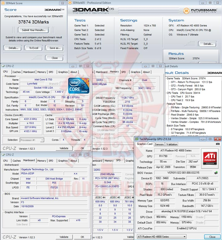 05 GIGABYTE GA P55A UD3P Full Benchmark Review
