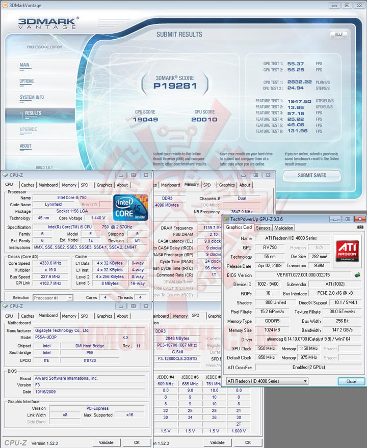 07 GIGABYTE GA P55A UD3P Full Benchmark Review