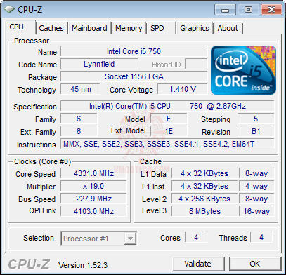 cpuz1 GIGABYTE GA P55A UD3P Full Benchmark Review