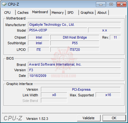 cpuz3 GIGABYTE GA P55A UD3P Full Benchmark Review