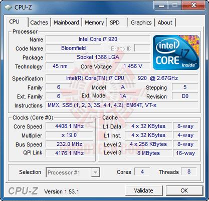 cpuz1 GIGABYTE GA X58A UD7 : X58 SLGMX Chipset!!