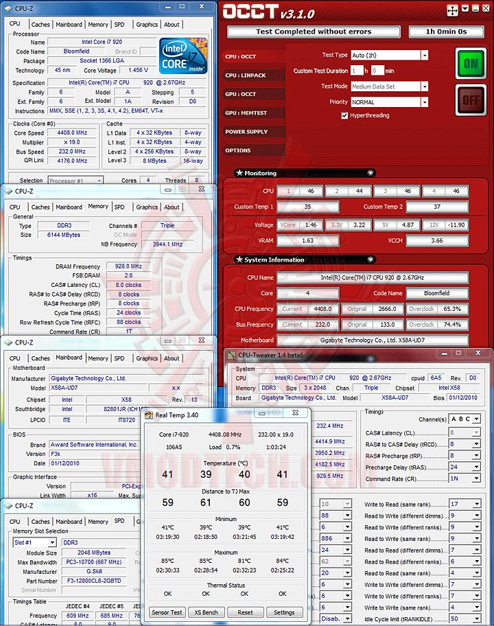 occt GIGABYTE GA X58A UD7 : X58 SLGMX Chipset!!