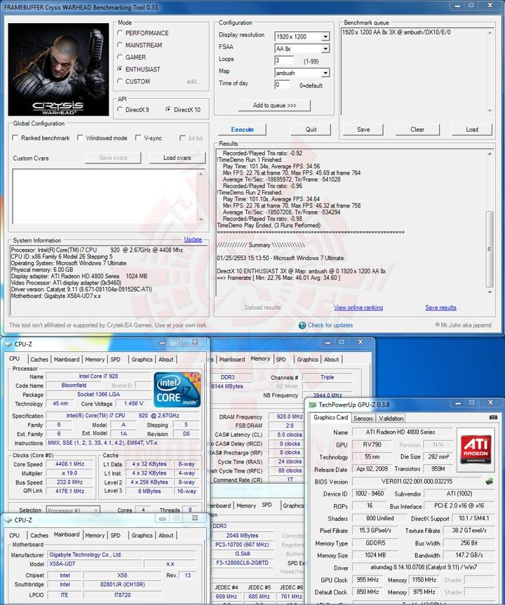 warhead GIGABYTE GA X58A UD7 : X58 SLGMX Chipset!!