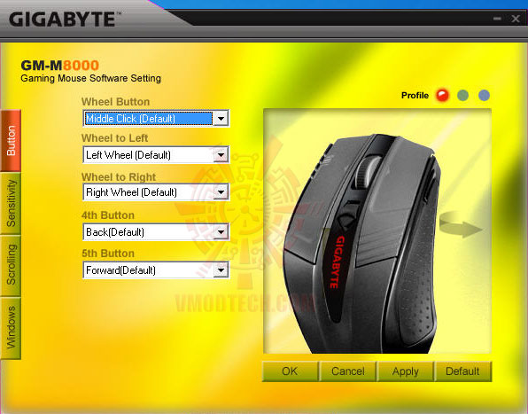 3 GIGABYTE GM M8000 GHOST Gaming Mouse