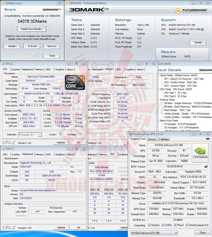 05 oc GIGABYTE GTX 285 1GB DDR3 Review