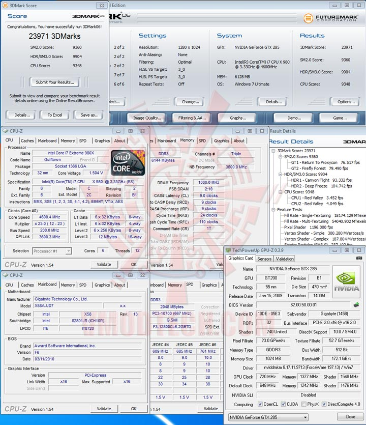 06 oc GIGABYTE GTX 285 1GB DDR3 Review