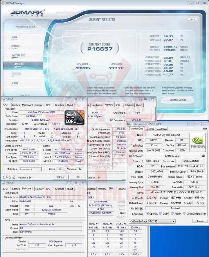 07 oc GIGABYTE GTX 285 1GB DDR3 Review