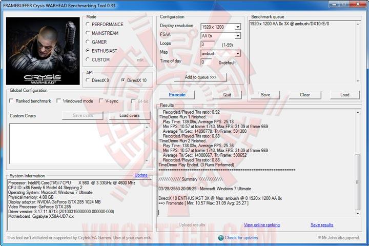 wh df GIGABYTE GTX 285 1GB DDR3 Review