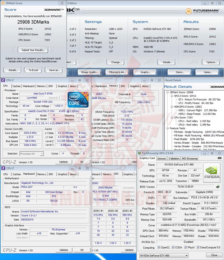 06 oc GIGABYTE GTX 460 Super Overclock 1GB GDDR5 Review