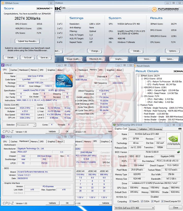 06 ov GIGABYTE GTX 460 Super Overclock 1GB GDDR5 Review