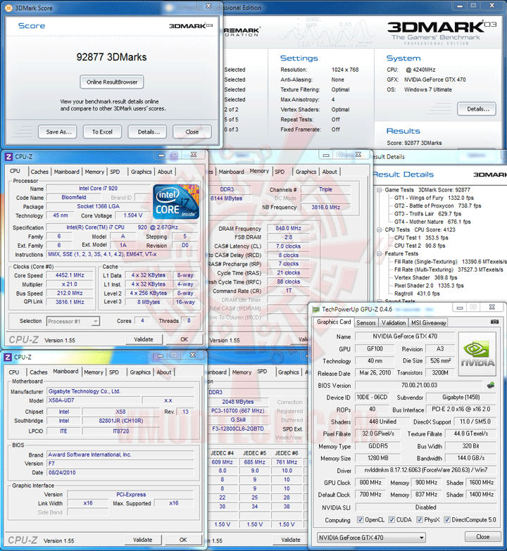 03 oc GIGABYTE GTX 470 SUPER OVERCLOCK 1280MB GDDR5 Review