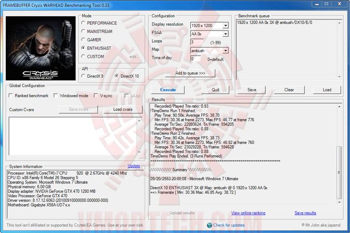 wh oc GIGABYTE GTX 470 SUPER OVERCLOCK 1280MB GDDR5 Review