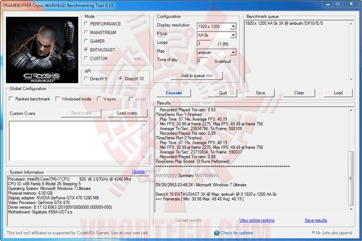 wh ov GIGABYTE GTX 470 SUPER OVERCLOCK 1280MB GDDR5 Review
