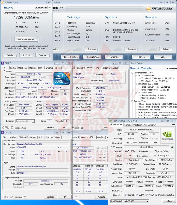 06 df GIGABYTE NVIDIA GeForce GTS 450 1024MB GDDR5 Review