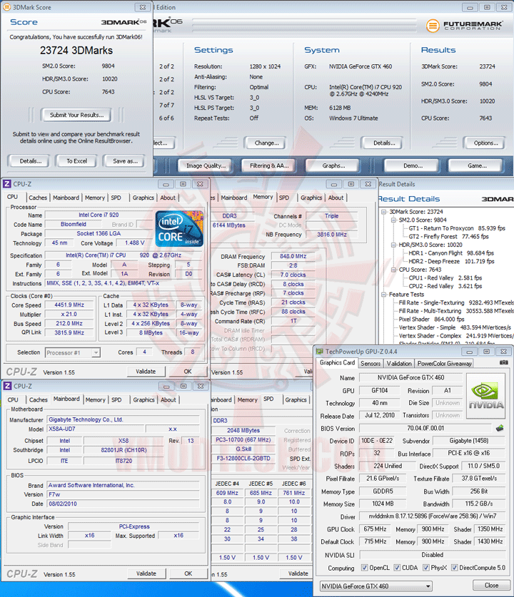 06 a GIGABYTE NVIDIA GeForce GTX 460 1024MB DDR5 Review