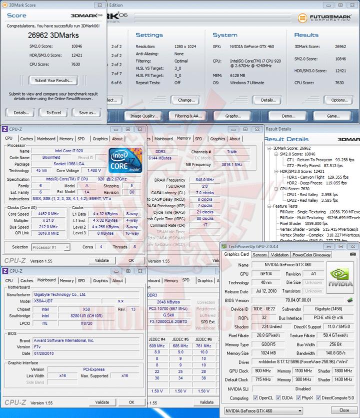 06 ov GIGABYTE NVIDIA GeForce GTX 460 1024MB DDR5 Review