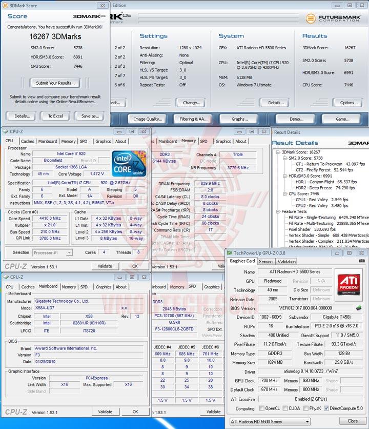 06 cf oc GIGABYTE Radeon HD 5570 1GB DDR3 CrossfireX Review