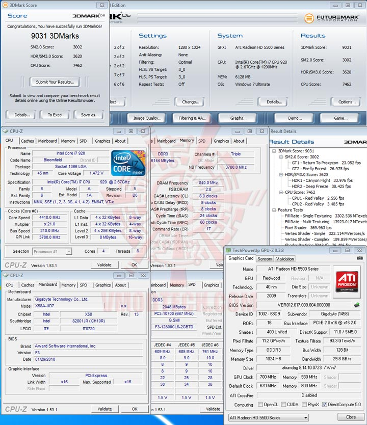06 oc GIGABYTE Radeon HD 5570 1GB DDR3 CrossfireX Review