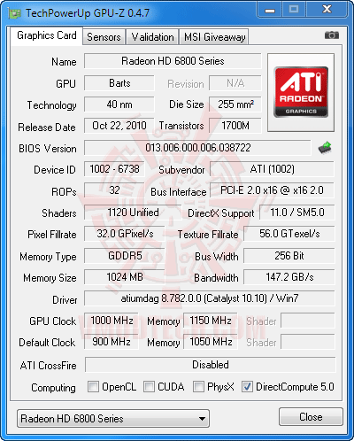 gz oc HIS AMD Radeon HD 6870 1GB GDDR5 Review