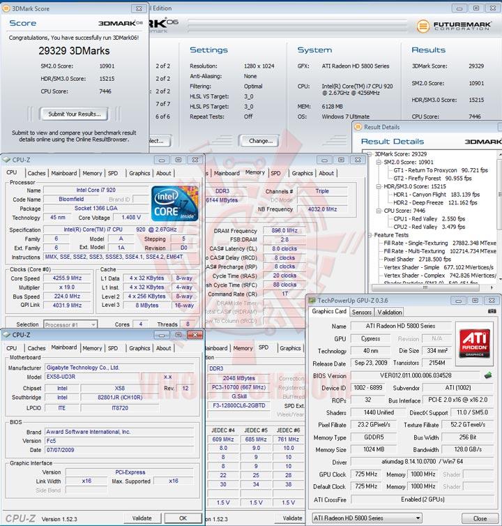 06cf HIS Radeon HD 5850 1GB GDDR5 CrossfireX First Review