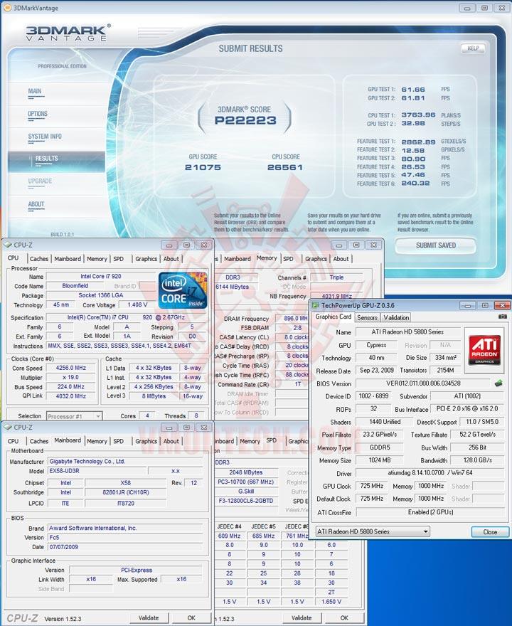 vancf HIS Radeon HD 5850 1GB GDDR5 CrossfireX First Review