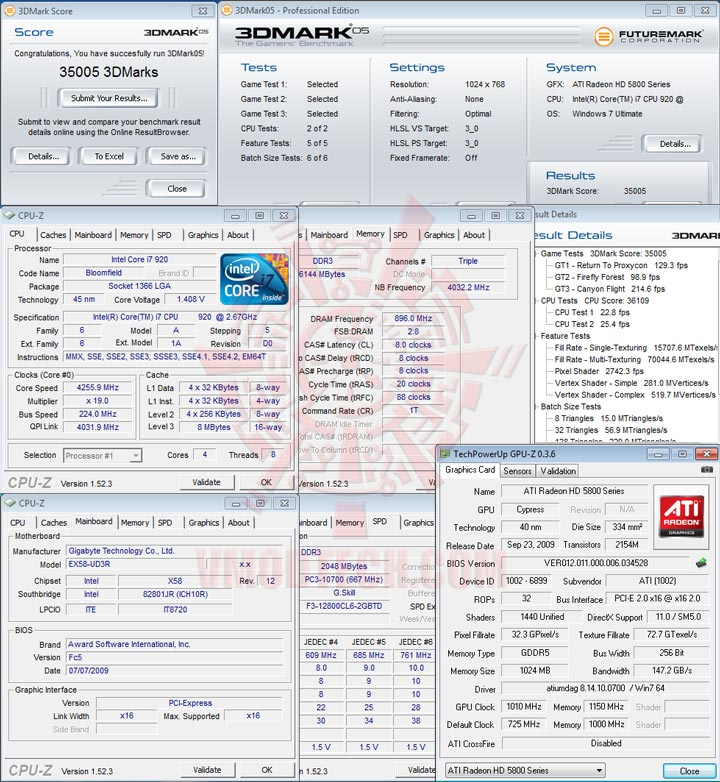 05 1010 HIS Radeon HD 5850 CrossfireX OVERCLOCK Results