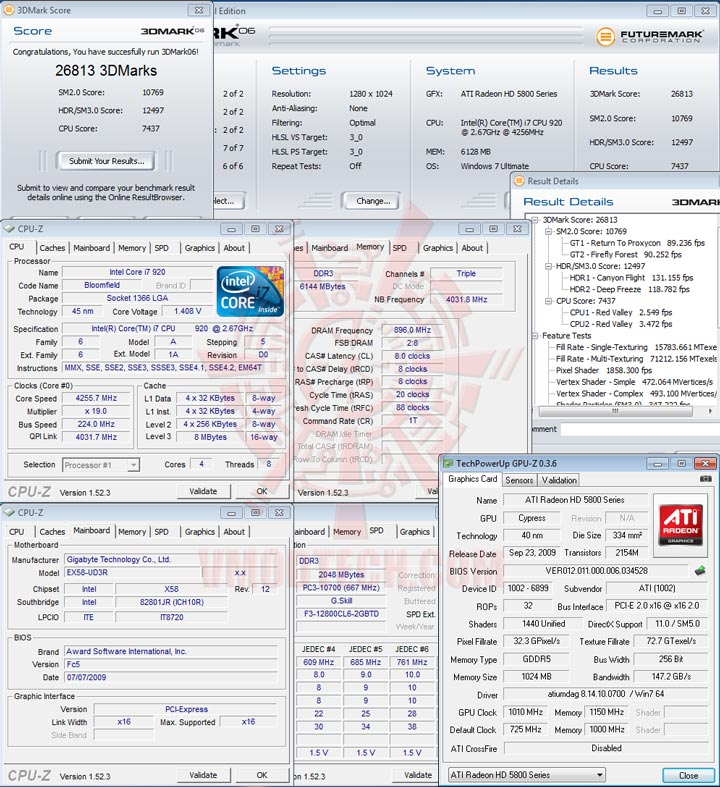 06 1010 HIS Radeon HD 5850 CrossfireX OVERCLOCK Results