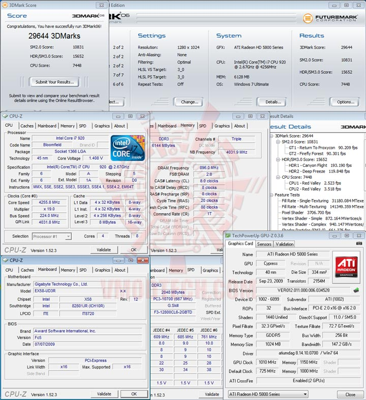 06cf 1010 HIS Radeon HD 5850 CrossfireX OVERCLOCK Results