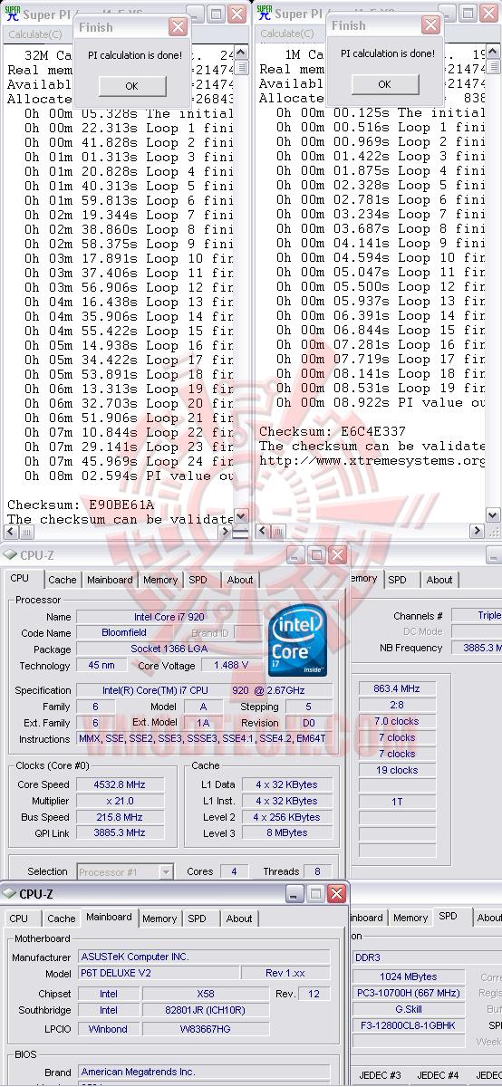32m 216 ระเบิดพลังIntel® Core™ i7 920 REV. D0 ไปกับ Asus P6T Deluxe V2