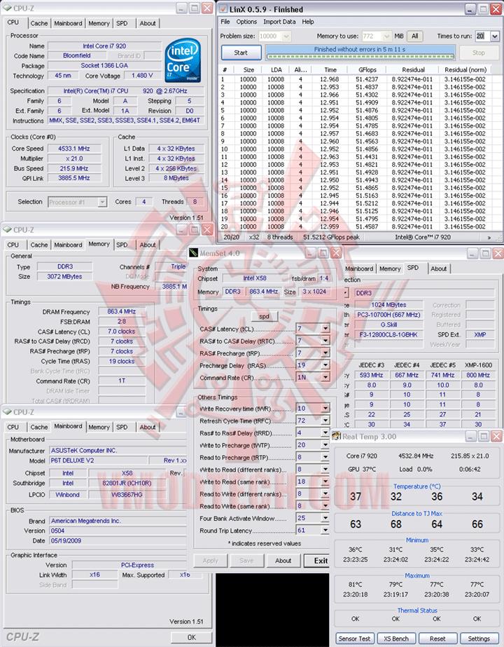 liux 216 ระเบิดพลังIntel® Core™ i7 920 REV. D0 ไปกับ Asus P6T Deluxe V2
