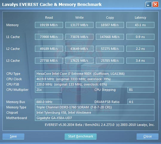 ev1 Intel® Core™ i7 980X Extreme Edition Gulftown OC Report