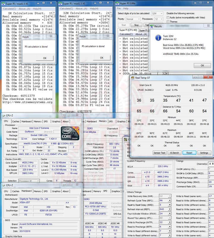 hpi 1 Intel® Core™ i7 980X Extreme Edition Gulftown OC Report