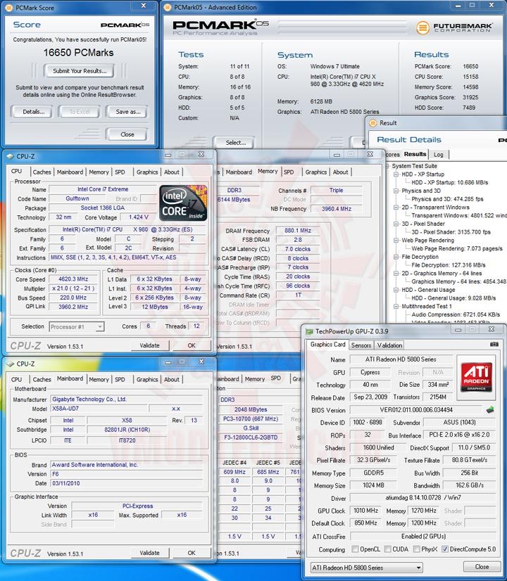 pcm05 Intel® Core™ i7 980X Extreme Edition Gulftown OC Report