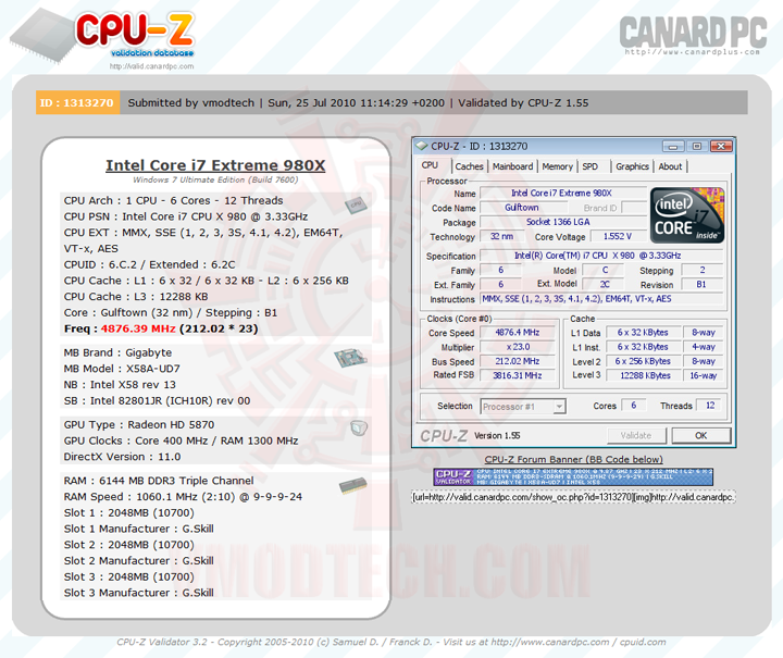 validate Intel® Core™ i7 980X Extreme Edition on the ROCK!!